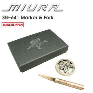 MIURA GIKEN Golf Japan SG-641 Marker and Fork set Copper 2021c