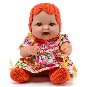 "Handmade Clothes Floral Hat/Dress for 13-14"" Berenguer &Similar Size Vinyl Dolls"