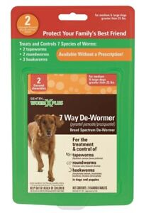 SENTRY Worm X Plus 7 Way De-Wormer for Large Dogs 2 ct     Free Shipping