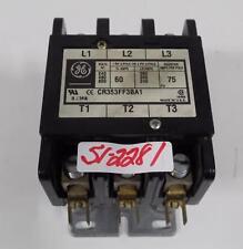 GE CR353FF3AP1 240 480 600 Vac Max Contactor Motor Starter 75 Amp 3 Pole  Open