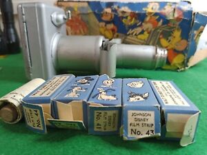 Johnson Disney Mickey Mouse Children's Projector with Films 1940's Good Cond.