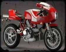 Ducati Mhe 900E A4 Metal Sign Motorbike Vintage Aged