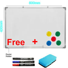 600 X 400MM Office School Magnetic Dry Whiteboard Drawing Memo Notice Board UKES