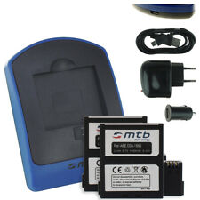 2x Akku + Ladegerät (USB) AEE D33 für PNJ AEE Action Magicam S60, S70 Extreme