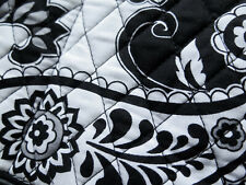 Vera Bradley Black White Midnight Paisley Carryall Travel Bag NEW!! 😎