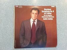 Bruckner Symphony No. * in C Minor Zubin Mehta S LP Set CSA 2237