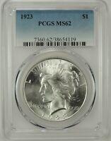 1923-P $1 PEACE SILVER DOLLAR PCGS MS62 #38654119 - COIN LOOKS UNDER GRADED!!!