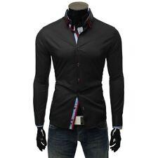 Camicie casual e maglie da uomo nere taglia M aderente