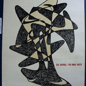 ORIGINAL 1972 AUGUSTIN CARDENAS PARIS GALLERIE POSTER VINTAGE FRANCE VERY RARE