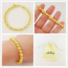 Sand Bead Smooth Woman Bracelet Jewelry Korean Gold 24K Gold Plated Bracelet 6Mm