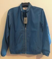 YMC Perforated Double Zip Jacket Teal Size Small
