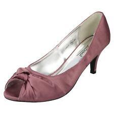 Anne Michelle L2R978 Damas Peep Toe Slip On Boda Noche Satén Tribunal Zapatos