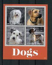 Uganda 2013 MNH Dogs II 4v M/S Pets Coton de Tulear Ridgeback Walker Coonhound