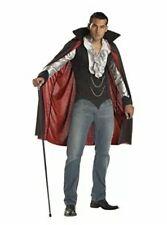 California Costumes Men's Very Cool Vampire Costume Black/Silver Plus 48-52 New