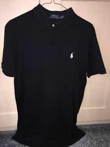 Ralph Lauren Polo Shirt. black. Medium