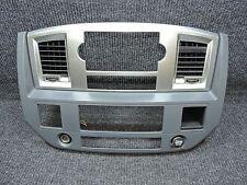 2006-2008 DODGE RAM Silver Slate Main Center Dash Radio HVAC Controls Trim Bezel