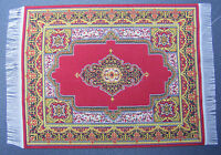 1:12 Scale 25cm x 17.5cm Woven Turkish Rug Doll House Miniature Carpet P39L