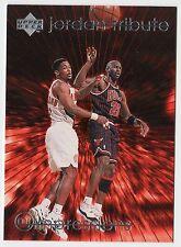 Michael Jordan 1997 UD TRIBUTE IMPRESSIONS EYE POPPING Passing Basketball Card
