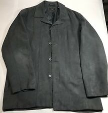 ALFANI Mens Grey Polyester Button Down Casual Light Jacket Size L