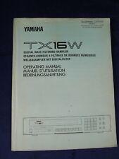 Yamaha TX 16W Digital Wave Filtering Sampler Owner's Manual