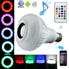 E27 LED RGB Bluetooth Speaker Light Lamp Wireless Music Stereo Playing Lampadine