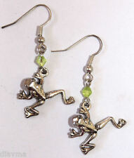 Green tree FROG EARRINGS