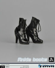 "1/6 Women Ankle Boots For 12"" Phicen Hot Toys Kumik Female Figure"