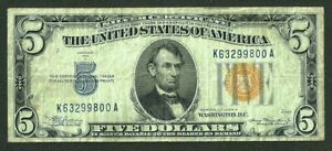 $5 DOLLARS 1934A NORTH AFRICA SILVER CERTIFICATE Fr#2307 P-414AY.a
