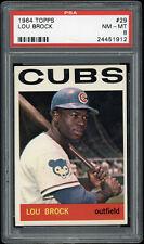 1964 Topps Lou Brock #29 PSA 8 HOF Cubs