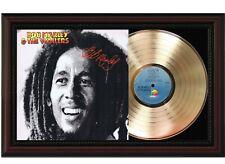 "Bob Marley Framed Cherry wood Reproduction Signature LP Record Display. ""M4"""