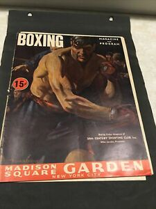 WW2 Scrapbook page Madison Square Garden Rodeo and Boxing programs