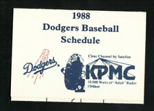 Los Angeles Dodgers--1988 Pocket Schedule--KPMC/Vac-Shack