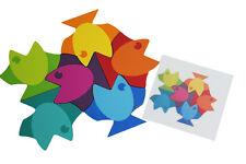Fish Tessellation Patterns Learning Activity - Wooden fish blocks toy Montessori