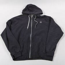 Vintage Champion Full Zip Hoodie Size Mens XL Blue