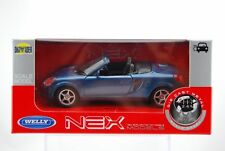 WELLY TOYOTA MR2 SPYDER BLUE 1:34 DIE CAST METAL MODEL NEW IN BOX
