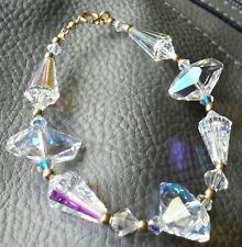 Aurora Borealis Crystal &14ktGold Filled Beads Bracelet