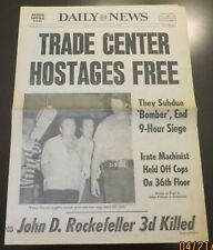 7/11/1978  NY NEWSPAPER - WORLD TRADE CENTER HOSTAGES FREE AFTER 9 HRS - 4 PAGES