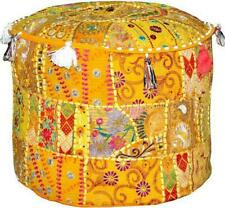 Handemade Bohemian Patchwork Bohemain Ottoman Pouf  Foot Stool Cover Ethnic 515
