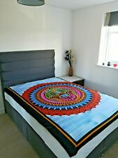 Hamsa Fatima Hand Indian Wall Hanging Twin Tapestry Hippie Mandala Bedspread UK