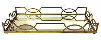 "SERVING TRAYS - ""KINGS CROSS"" QUATREFOIL SERVING TRAY - ANTIQUE GOLD FINISH"