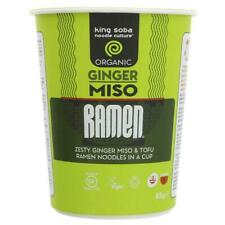 King Soba Organic Ginger Miso Ramen Noodle Cup 85g (Pack of 6)
