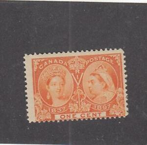 CANADA (MK6138) # 51  F-MNH 1cts VICTORIA 1897 //DIAMOND JUBILEE /ORANGE CAT $30