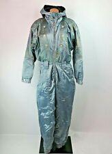 Vtg 80s 90s Iridescent OBERMEYER Snowsuit One Piece SKI SUIT Snow Bib Womens 14