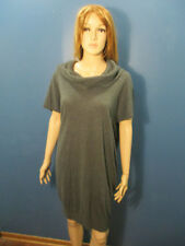 XL gray acrylic knit dress by ROBBIE BEE - cowl neck - SIGNATURE COLLECTION