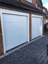 Fully Fitted Electric Sectional Garage Door M Ribbed Remote Control Operated Inc