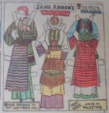 Jane Arden Sunday with Large Uncut Paper Doll from 12/10/1933 Full Size Page!