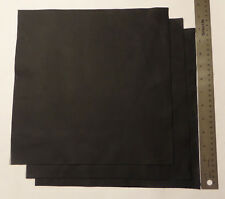 Upholstery Leather Scrap Crafts 12 x 12 inches Black 1 Piece