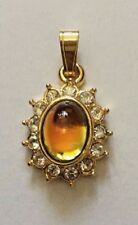 TINY LOVELY DAINTY MULTI- COLOURED STONE AND FAUX DIAMOND PENDANT BNWOT