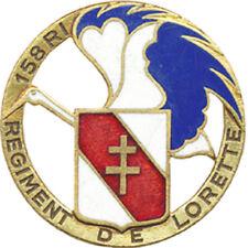 158° Régiment de Lorette, émail ajouré 35 mm, cou blanc, Drago Paris (2693)