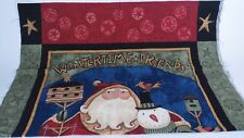 Wintertime Friends Sewing Quilt Panel Wall Teresa Kogut SSI Santa & Snowman
